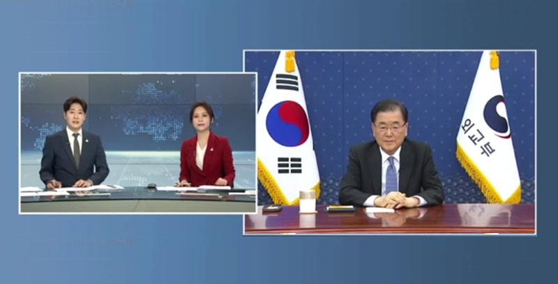 정의용 장관, 연합뉴스 TV 인터뷰 (3.18.)
